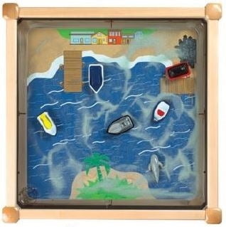Square Magnetic Kids Play Sand Table-Ocean Theme