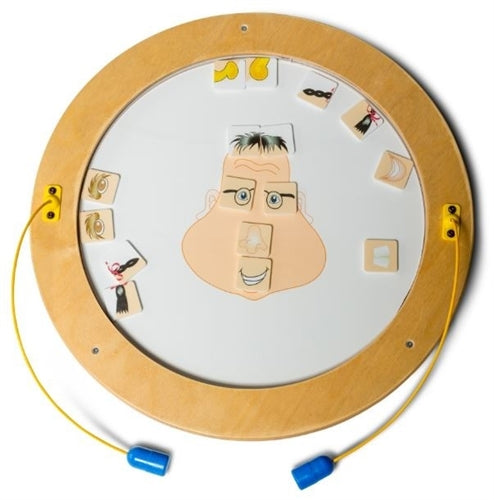 Round Magnetic Wall Game Wall Toy - Funny Face
