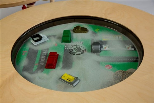 Car/Truck Themed Round Magnetic Sand Table