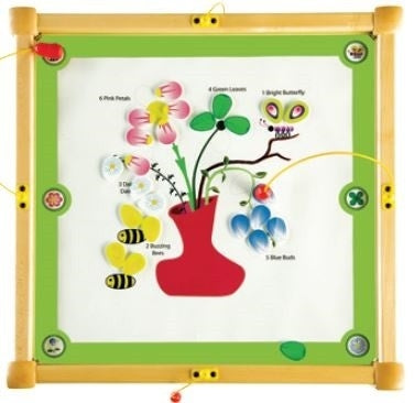 Bees & Flowers Magnetic Square Kids Activity Play Table