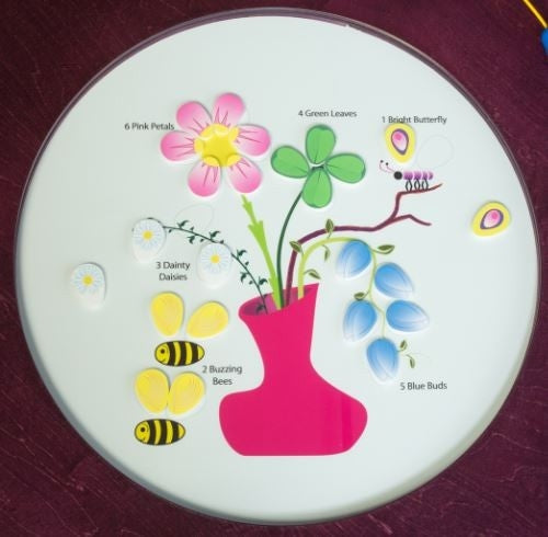 Flowers and Bees Magnetic Round Kids Activity Play Table