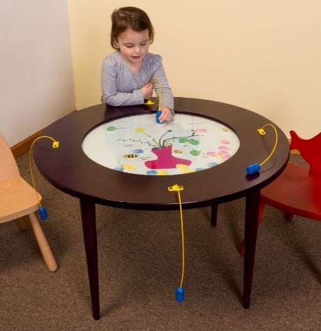 Funny Face Magnetic Round Kids Activity Play Table