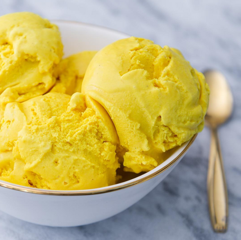 Malai tumeric ice cream