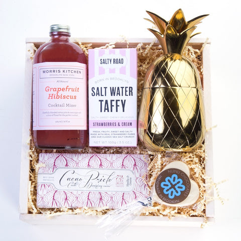 Mother's day gift set chocolate cocktail taffy pineapple tumbler