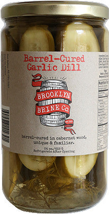 Barrel Cured Garlic Dill Pickles