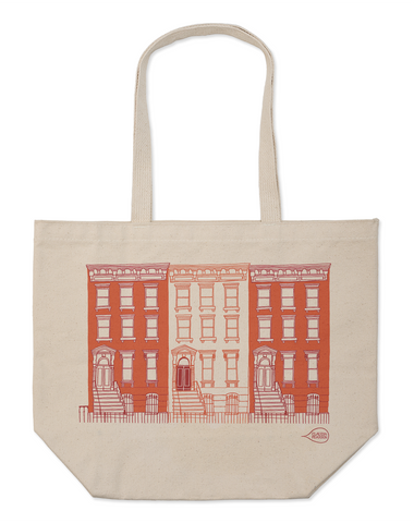 Claudia Pearson Red Brownstone Large Tote