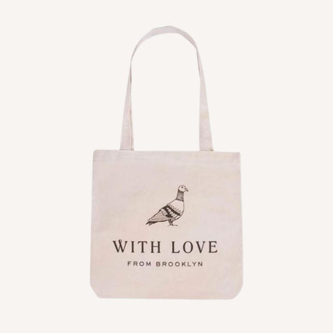 Pigeon Tote Bag Made in Brooklyn Gift Basket