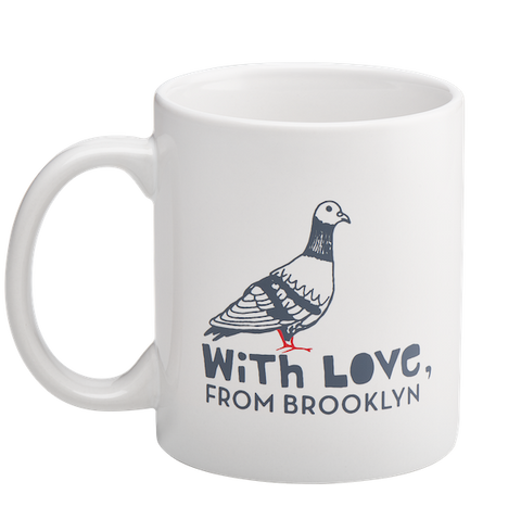 With Love, From Brooklyn Pigeon Mug