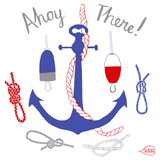Claudia Pearson Ahoy There! Tea Towel