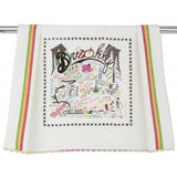 Brooklyn Cross-Stitch Tea Towel