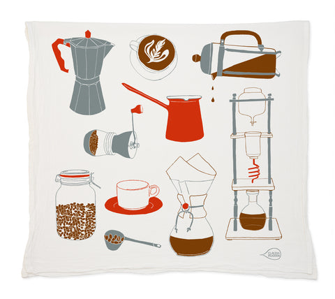 Claudia Pearson Coffee Tea Towel