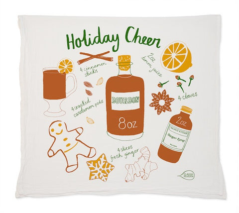 Claudia Pearson Holiday Cheer Tea Towel