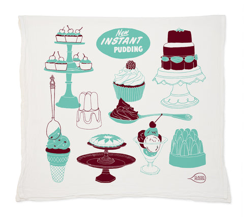 Claudia Pearson Jelly & Cake Tea Towel