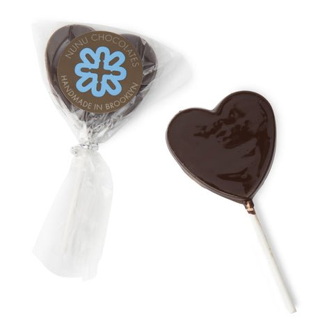 Nunu Chocolates Heart Lolly