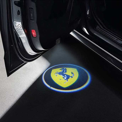 CarFitg Wireless Led Car Door Projector Puddle Logo Light - FERRARI