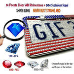 Car Fitg 2019 Newest Bling Rhinestone Premium Stainless Steel License Plate Frame
