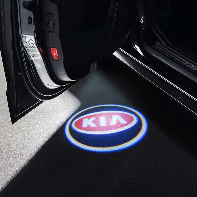 CarFitg Wireless LED Car Door Projector Puddle Logo Light - KIA
