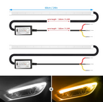 CarFitg™ Dual Color White / Amber Daytime Running Lights 1 Pair