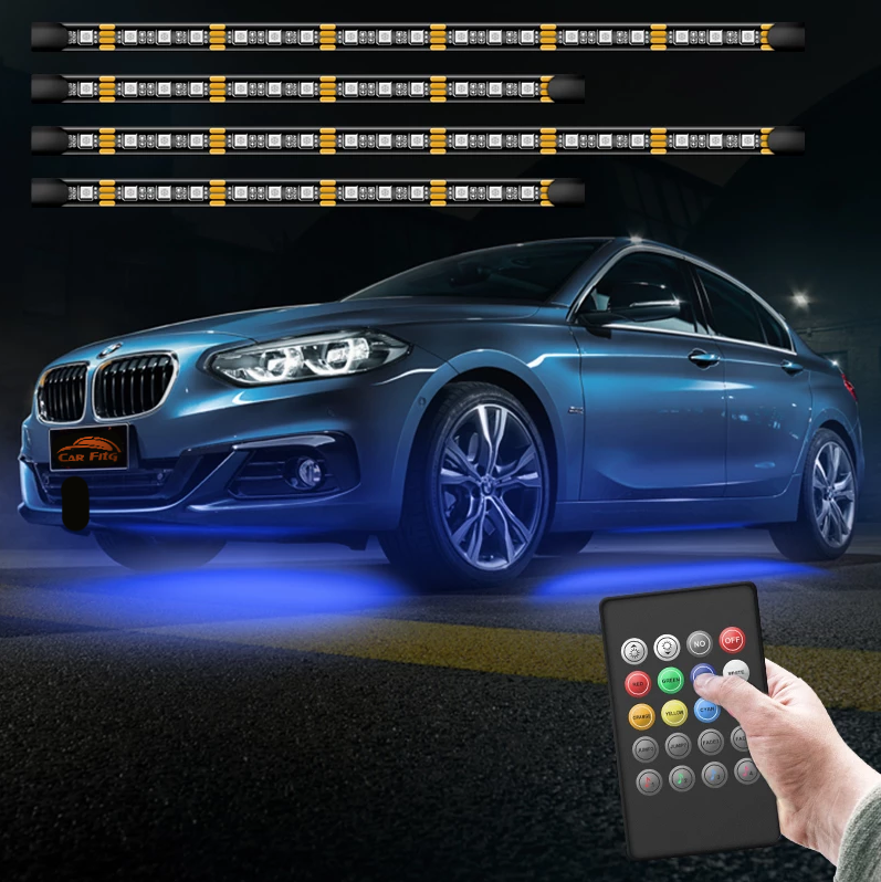 CarFitg™ 252 LED RF Voice Remote Control LED Car Underbody Lights