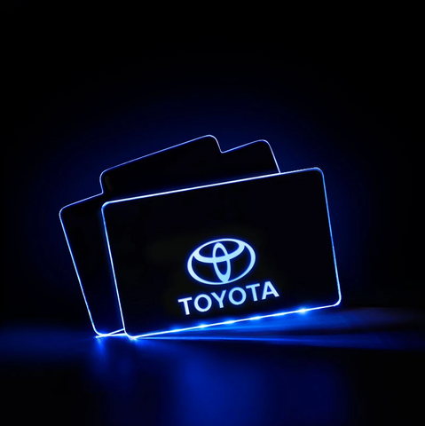 CarFitg™  TOYOTA Acrylic LED Foot Mats | Car logo illuminating mat