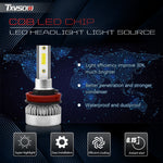 2Pcs H8/H9/H11 Car LED Headlight Bulbs Kit - 110w 1000LM Super Bright Headlights