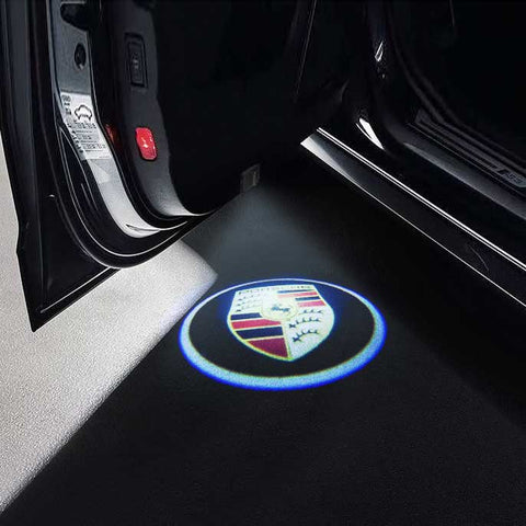 CarFitg Wireless LED Car Door Projector Puddle Logo Light - PORSCHE