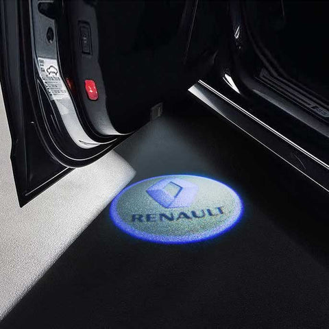 CarFitg Wireless LED Car Door Projector Puddle Logo Light - RENAULT