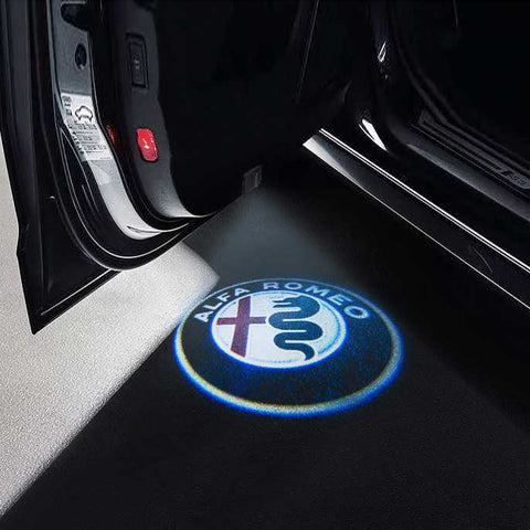 CarFitg Wireless Led Car Door Projector Puddle Logo Light - ALFA ROMEO