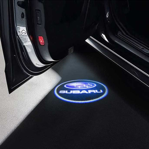 CarFitg Wireless LED Car Door Projector Puddle Logo Light - SUBARU