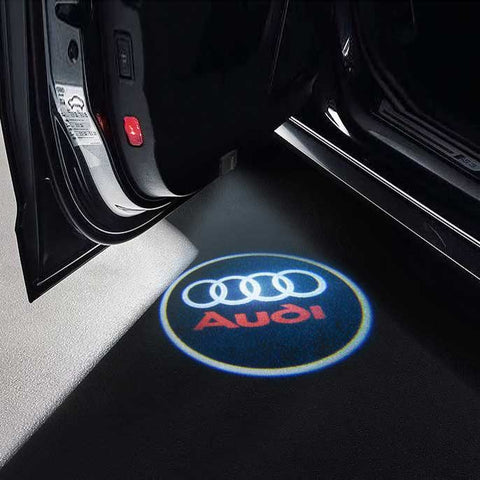CarFitg Wireless LED Car Door Projector Puddle Logo Light - AUDI