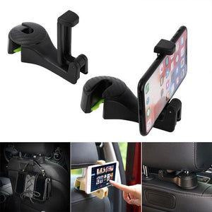 Car Fitg Seat Back Hook Vehicle Headrest Hanger Holder Hooks Universal Headrest Mount(2PCS)