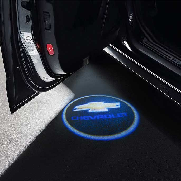 CarFitg Wireless LED Car Door Projector Puddle Logo Light - CHEVROLET