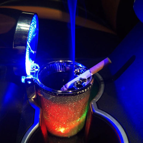 Car Fitg LED Disco Car Ashtray