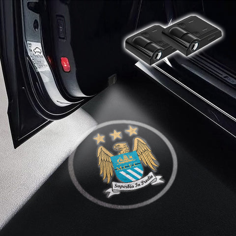 CarFitg Wireless Led Car Door Projector Puddle Logo Light - Manchester City FC