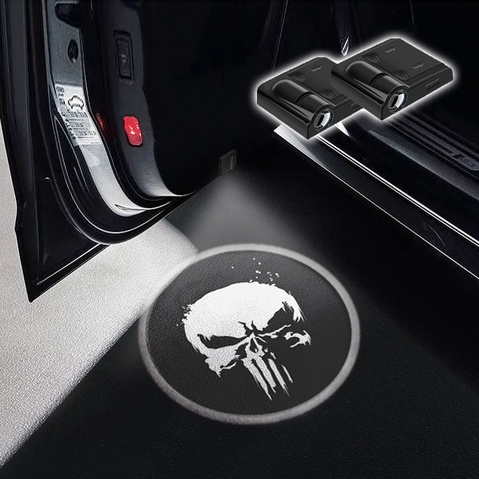 CarFitg Wireless LED Car Door Projector Puddle Logo Light - Punisher