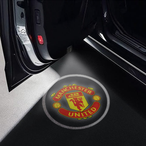 CarFitg Wireless Led Car Door Projector Puddle Logo Light - Manchester United FC