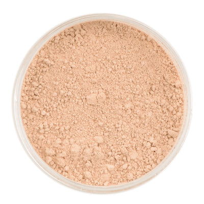 Natural Mineral Makeup in shade Lightly Medium. Loose Foundation Setting Powder, Vegan Cruelty Free Healthy Cosmetics