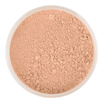 Natural Mineral Makeup in shade Lightly Tan. Loose Foundation Setting Powder, Vegan Cruelty Free Healthy Cosmetics