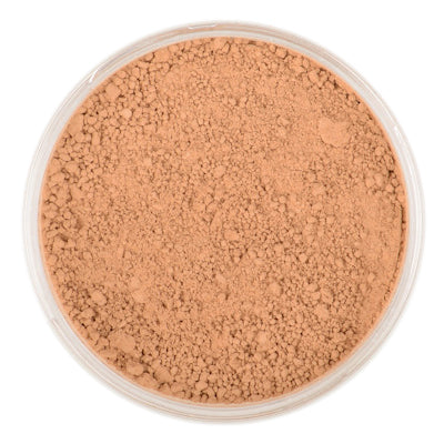 Natural Mineral Makeup in shade Tan. Loose Foundation Setting Powder, Vegan Cruelty Free Healthy Cosmetics