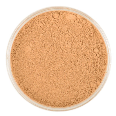 Natural Mineral Makeup in shade Warm Tan. Loose Foundation Setting Powder, Vegan Cruelty Free Healthy Cosmetics