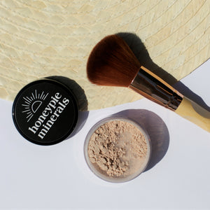 Honeypie Minerals Foundation Light Natural Vegan Cruelty Free Green Clean Eco Beauty Makeup