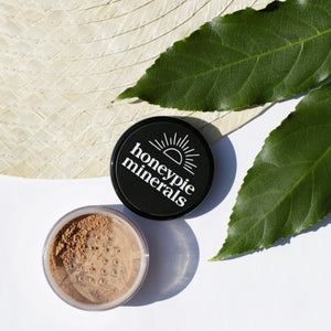 Honeypie Minerals Foundation Lightly Tan Natural Vegan Cruelty Free Green Clean Eco Beauty Makeup