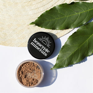Honeypie Minerals Foundation Rich Dark Natural Vegan Cruelty Free Green Clean Eco Beauty Makeup