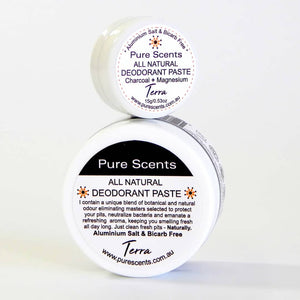 Natural Deodorant, Terra - Pure Scents