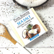 Load image into Gallery viewer, Sea Salt & Coconut Creme Soap Bars - Kelp Unscented Value Pack - Pure Scents