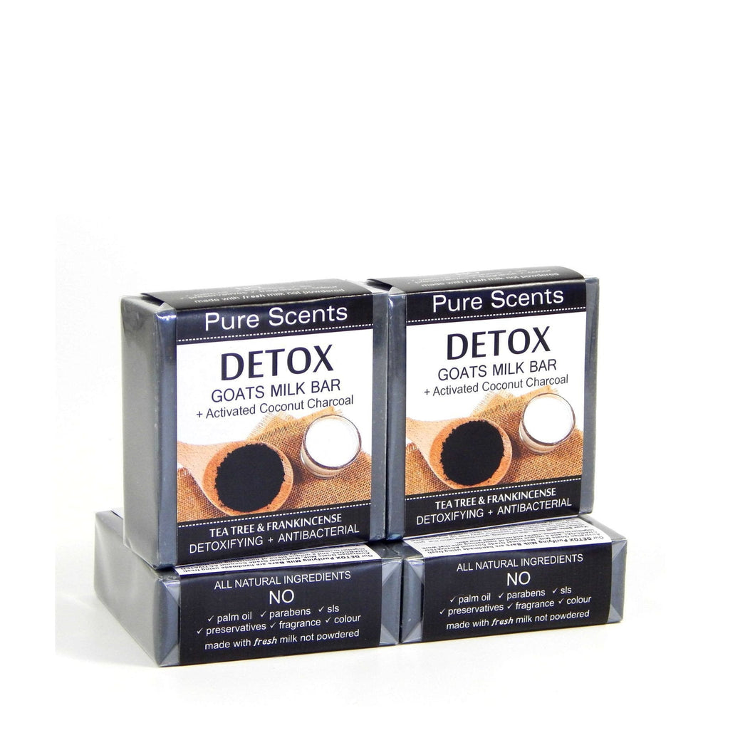 Activated Charcoal Soap - Tea Tree & Frankincense Value Pack 4 x 110g - Pure Scents