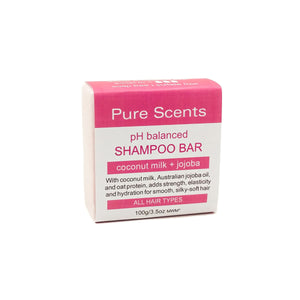 New! Coconut Milk Shampoo bar [Coconut & Pomegranate] - Pure Scents
