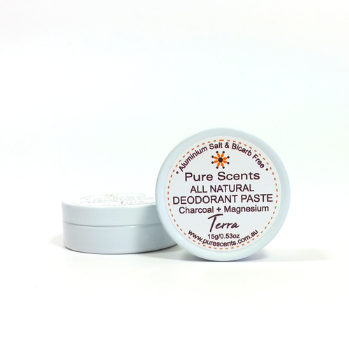 MINI (Plastic Free) - All Natural Deodorant Paste (Terra) 15g - Pure Scents