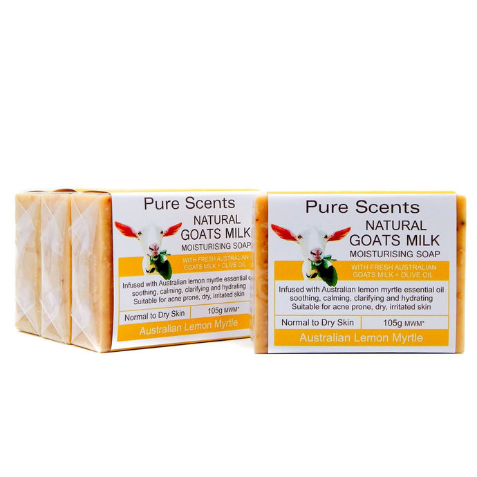 Goat Milk Soap - Lemon Myrtle Value Pack 4 x 110g - Pure Scents