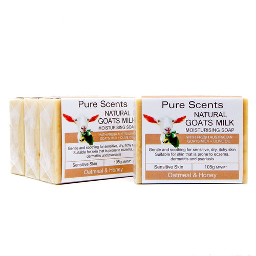 Goat Milk Soap - Oatmeal & Honey Value Pack 4 x 110g - Pure Scents